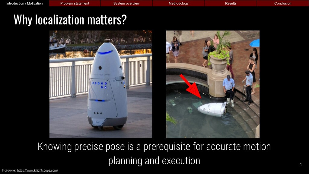 Knowing precise pose is a prerequisite for accu...
