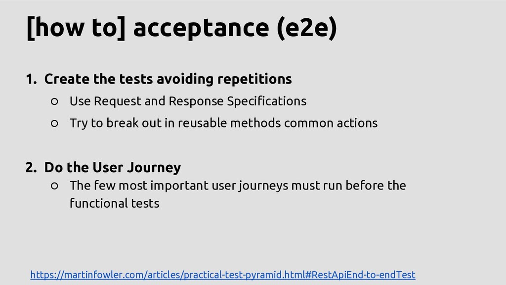 [how to] acceptance (e2e) 1. Create the tests a...