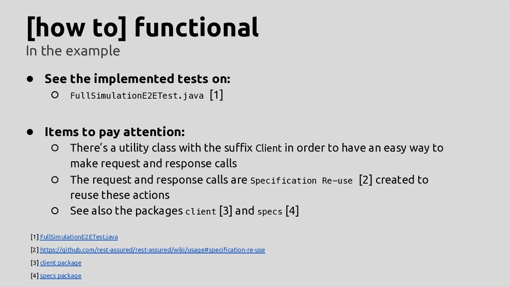 [how to] functional In the example ● See the im...