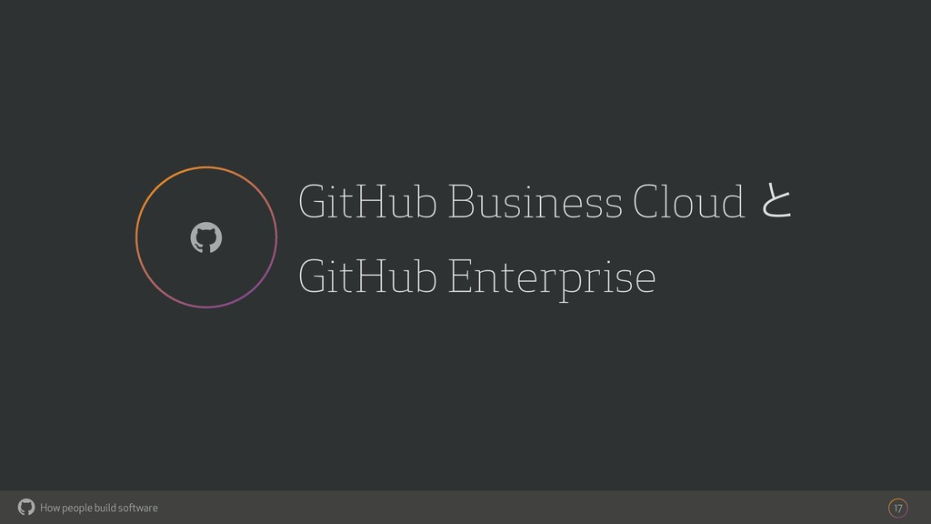 How people build software ! GitHub Business Clo...