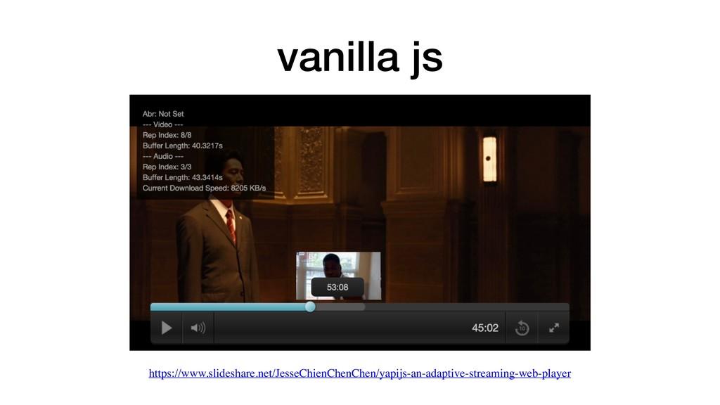 vanilla js https://www.slideshare.net/JesseChie...