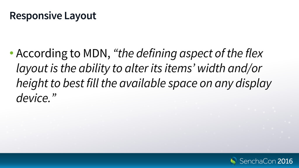 """Responsive Layout • According to MDN, """"the defi..."""