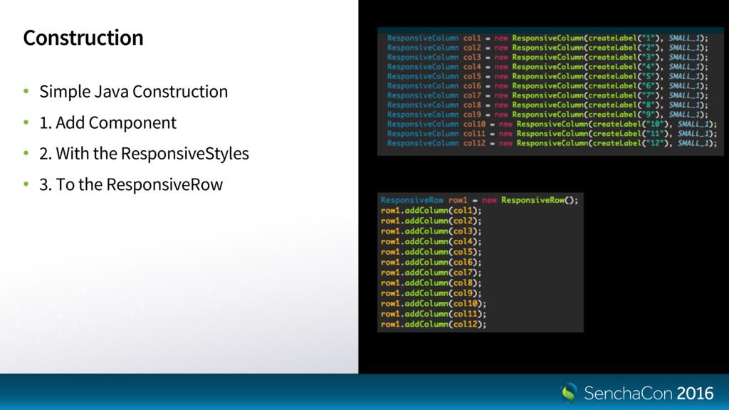 Construction • Simple Java Construction • 1. Ad...