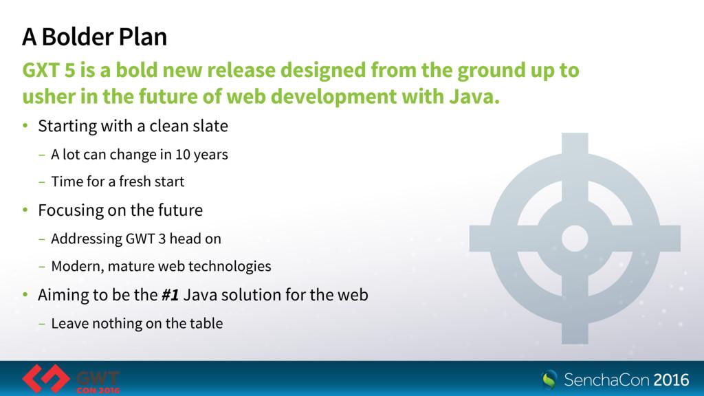 A Bolder Plan GXT 5 is a bold new release desig...