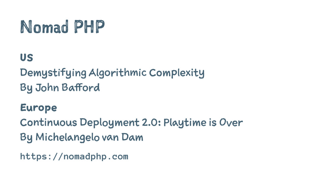 Nomad PHP US Demystifying Algorithmic Complexit...