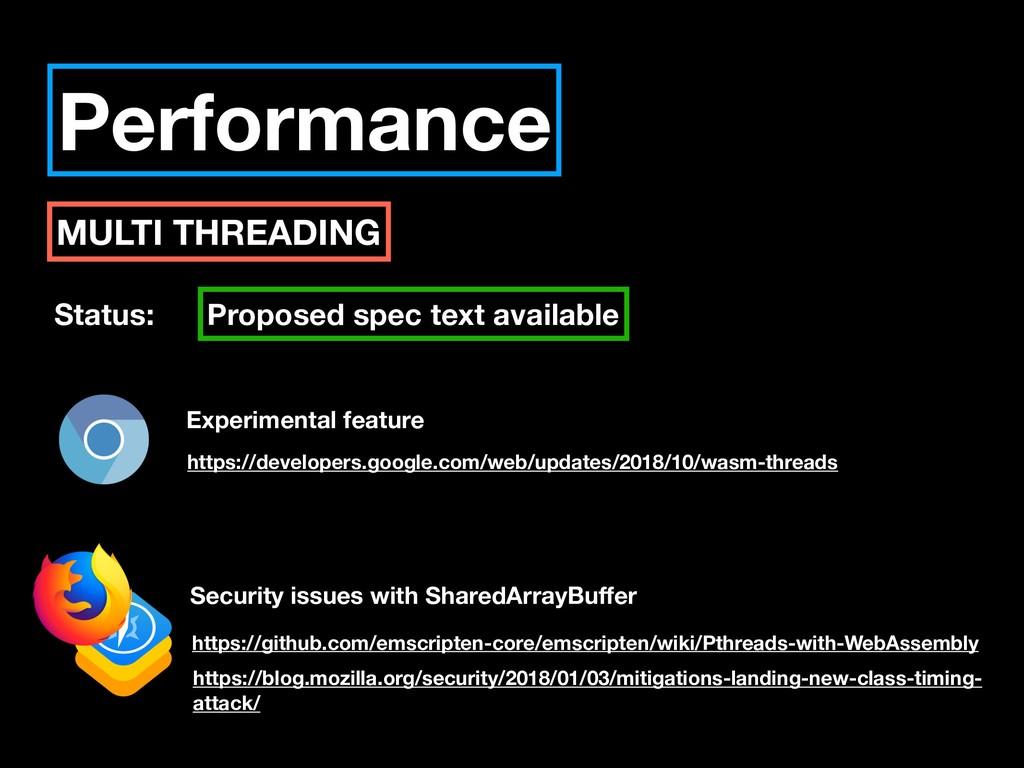 Performance MULTI THREADING Status: Proposed sp...