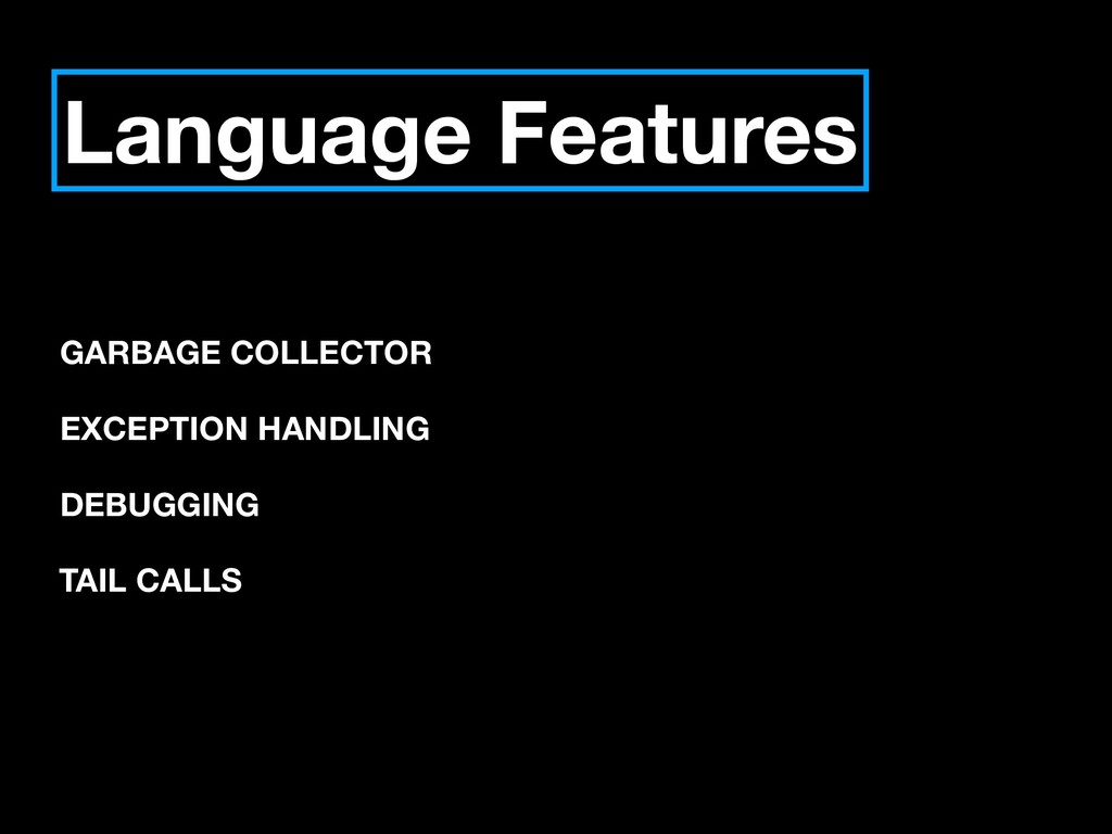 Language Features GARBAGE COLLECTOR EXCEPTION H...