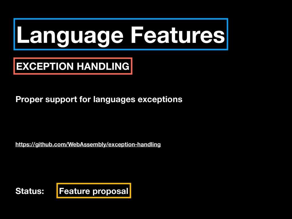 Language Features EXCEPTION HANDLING Proper sup...