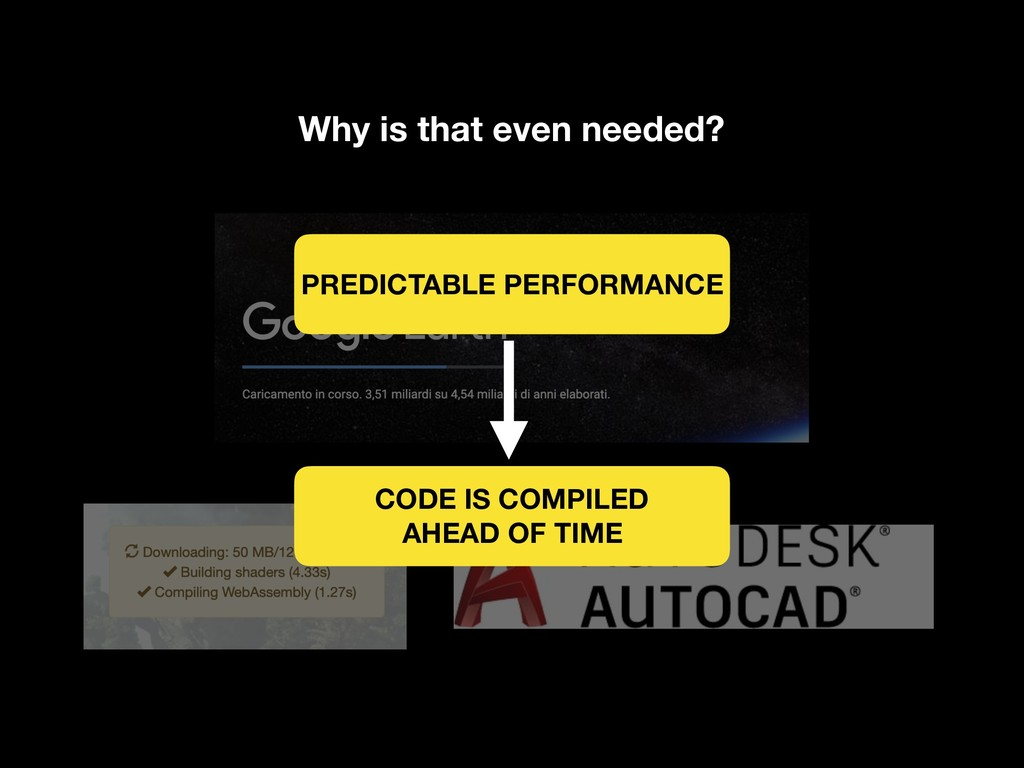 Why is that even needed? PREDICTABLE PERFORMANC...