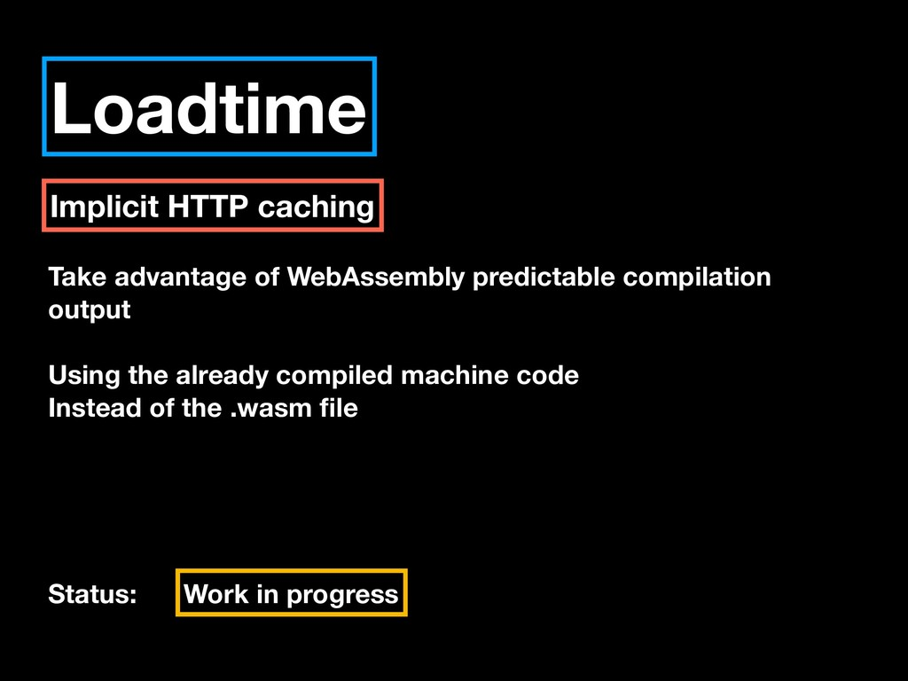 Loadtime Implicit HTTP caching Take advantage o...