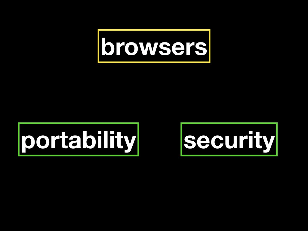browsers portability security