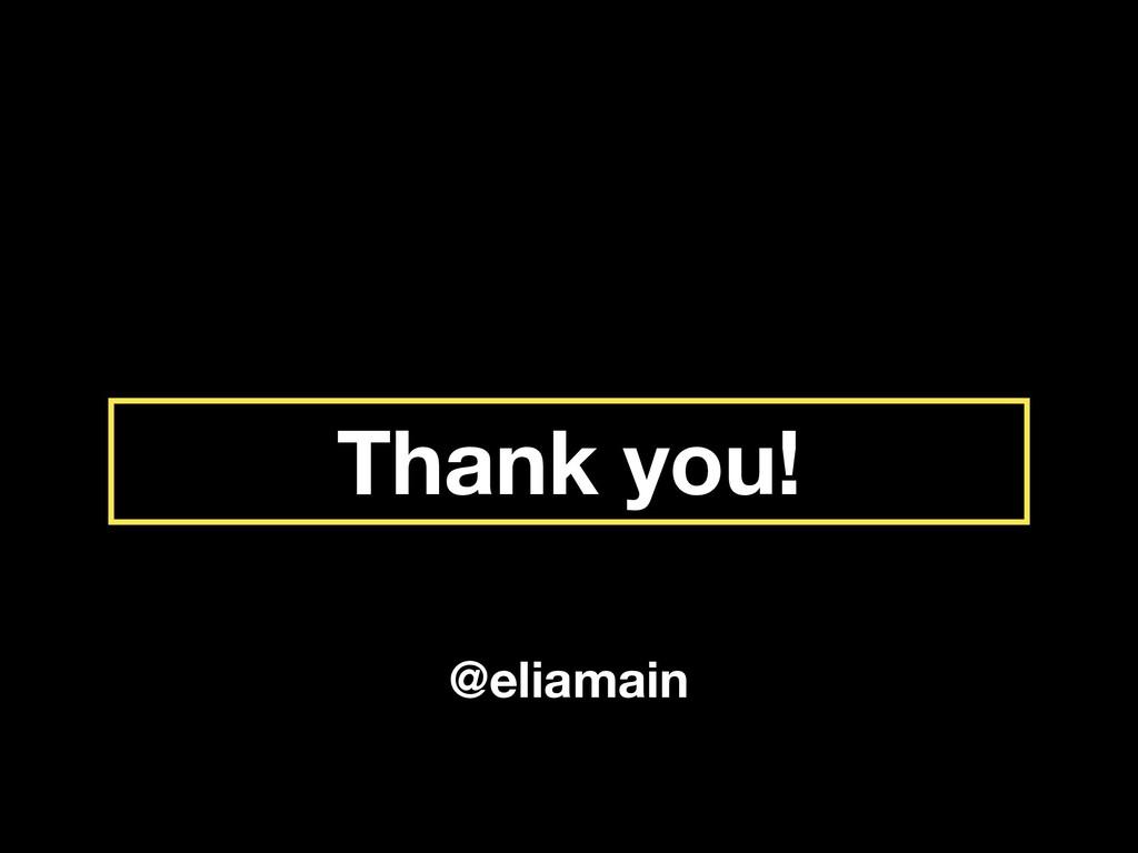 Thank you! @eliamain