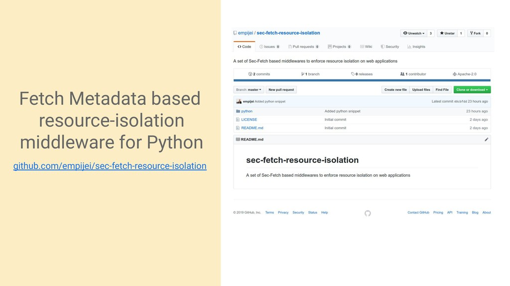 Fetch Metadata based resource-isolation middlew...