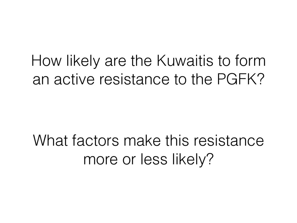 How likely are the Kuwaitis to form an active r...