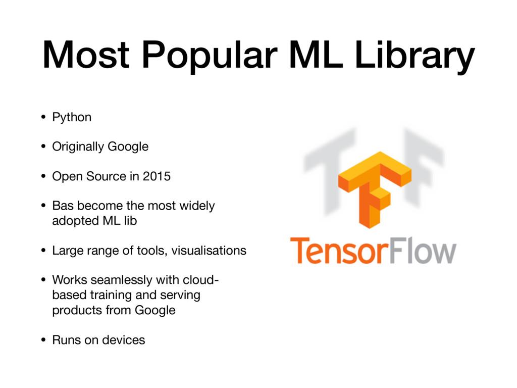 Most Popular ML Library • Python  • Originally ...