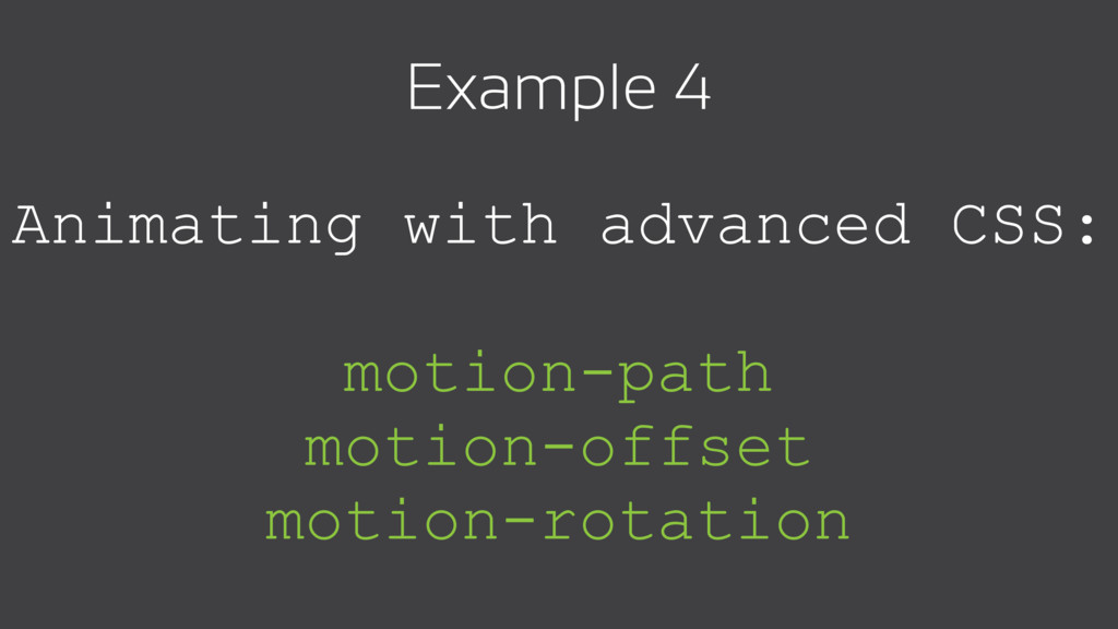 Animating with advanced CSS: motion-path motion...