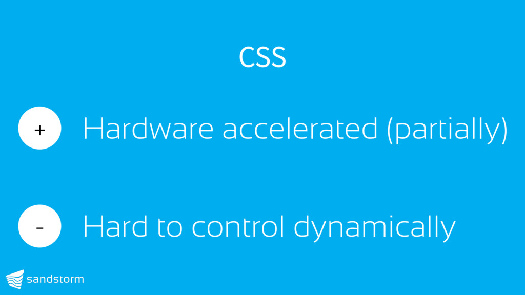 CSS + Hardware accelerated (partially) - Hard t...