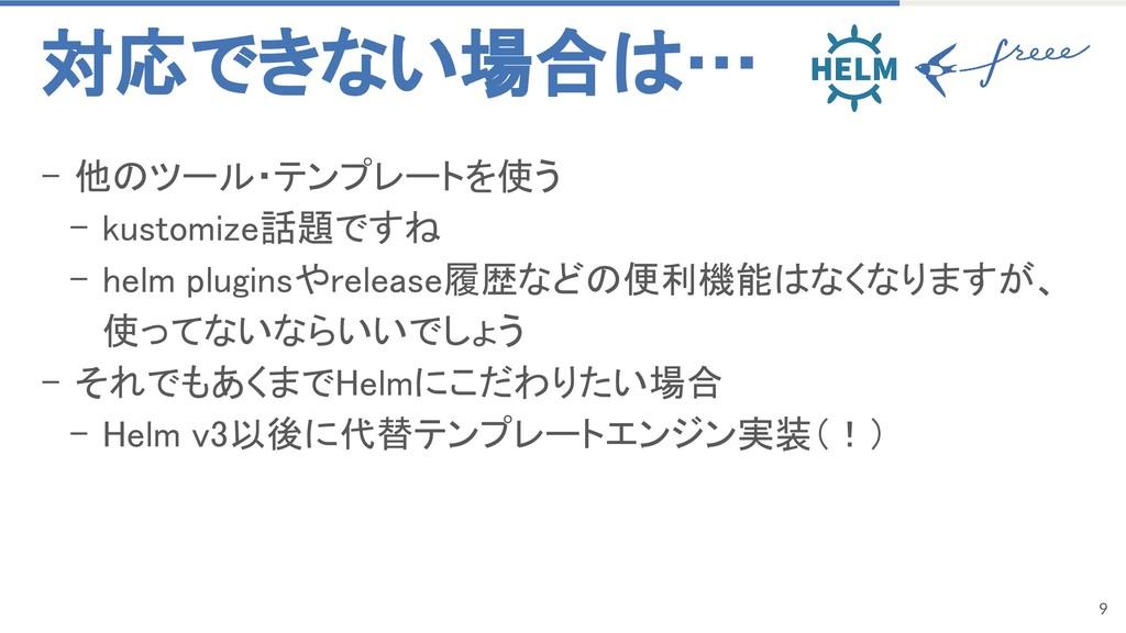 9 - 他のツール・テンプレートを使う - kustomize話題ですね - helm plu...