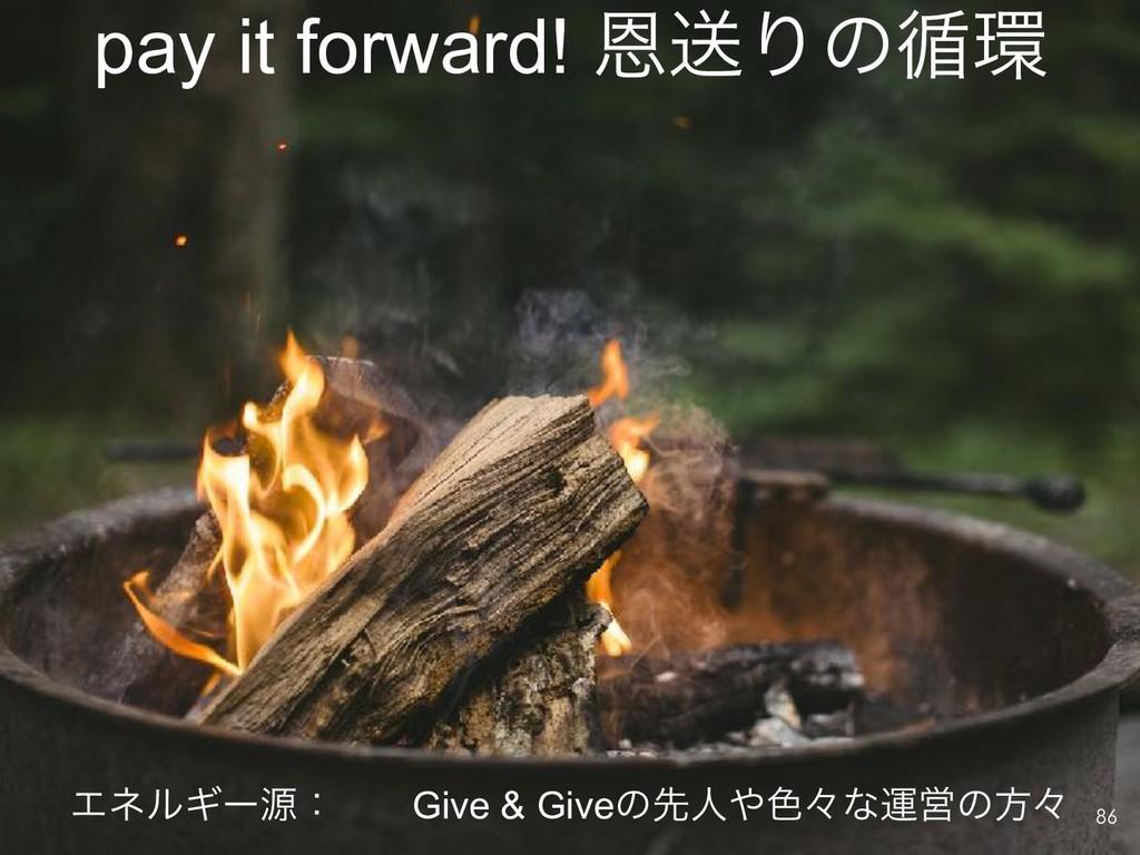 pay it forward! ԸૹΓͷ॥ !86 ΤωϧΪʔݯɿ Give & Giveͷ...