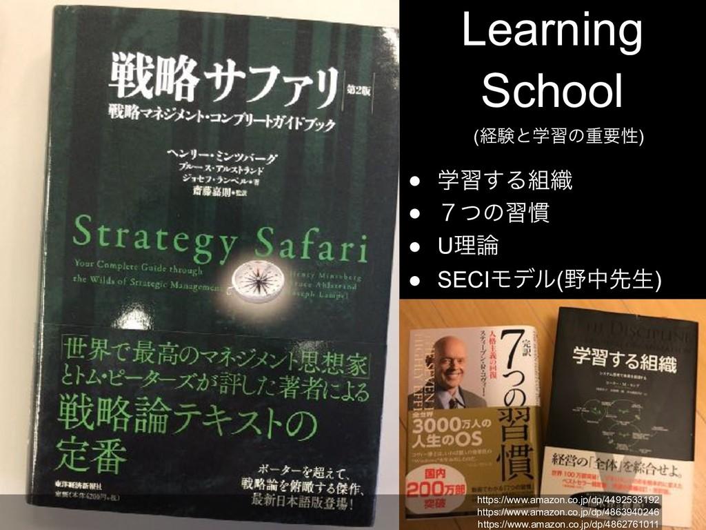 Learning School (ܦݧͱֶशͷॏཁੑ) ● ֶश͢Δ৫ ● ̓ͭͷश׳ ● ...