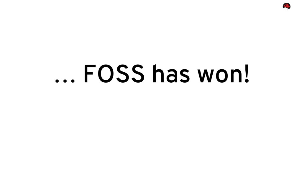 … FOSS has won!