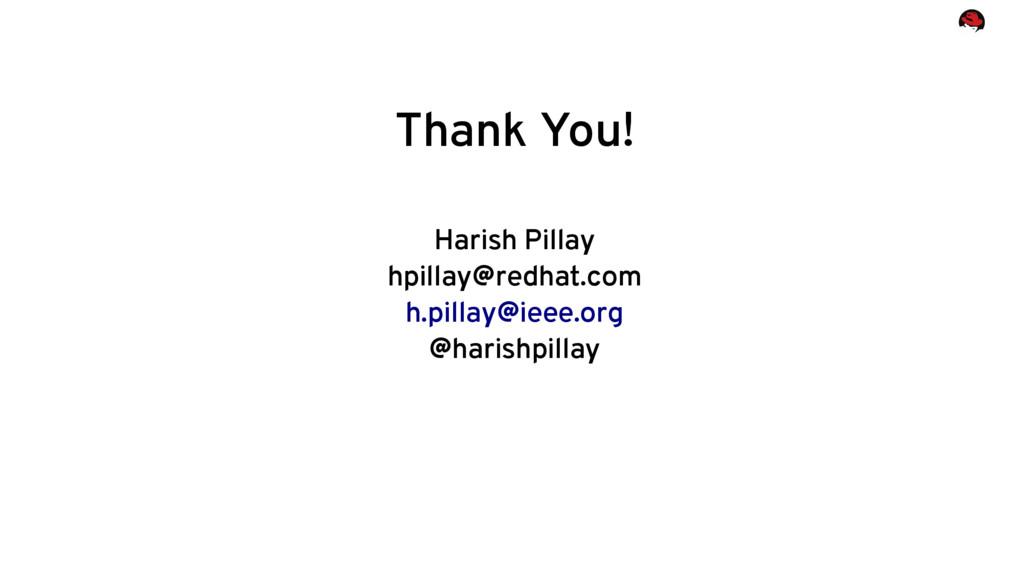 Thank You! Harish Pillay hpillay@redhat.com h.p...