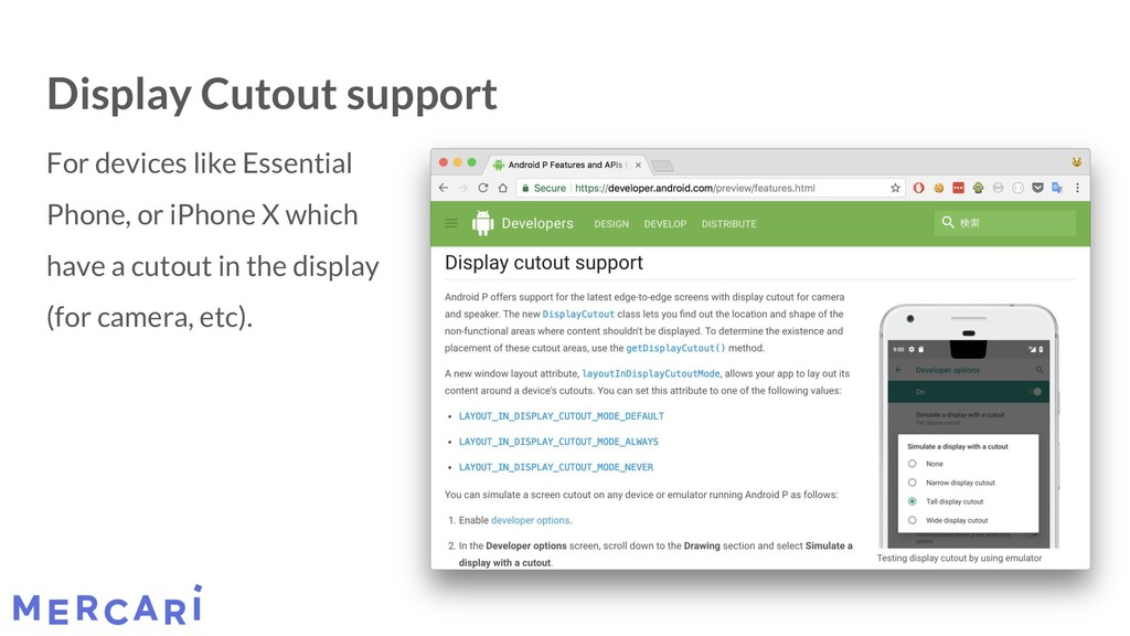 Display Cutout support For devices like Essenti...