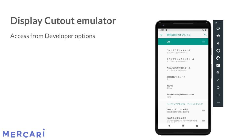 Display Cutout emulator Access from Developer o...