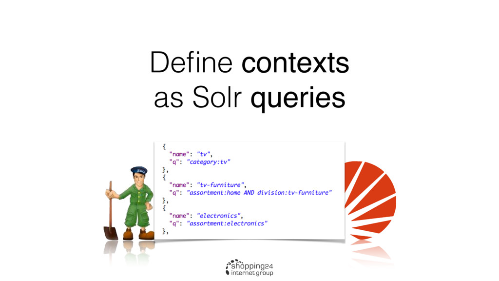Define contexts as Solr queries