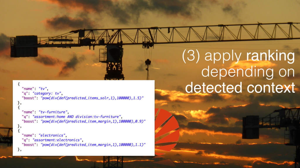 (3) apply ranking depending on detected context
