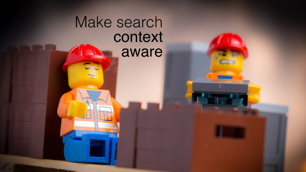 Make search context aware