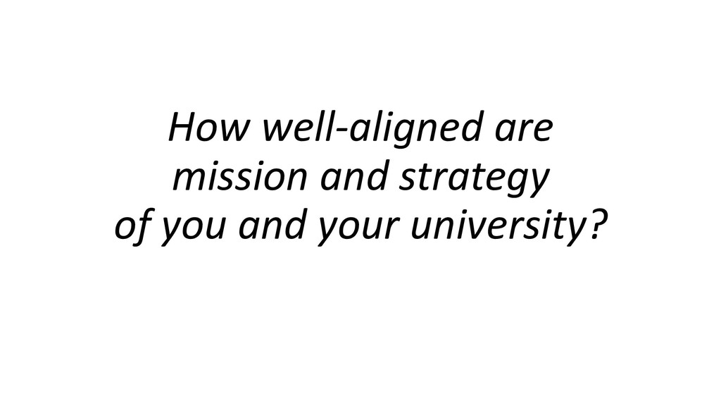 How well-aligned are mission and strategy of yo...