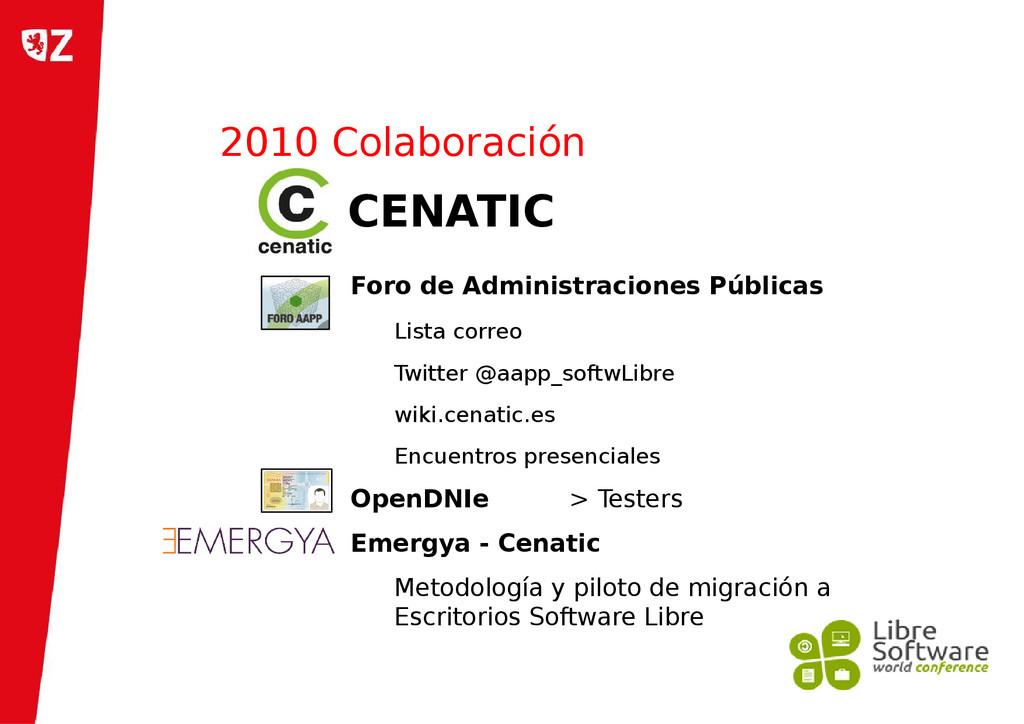 2010 Colaboración Foro de Administraciones Públ...