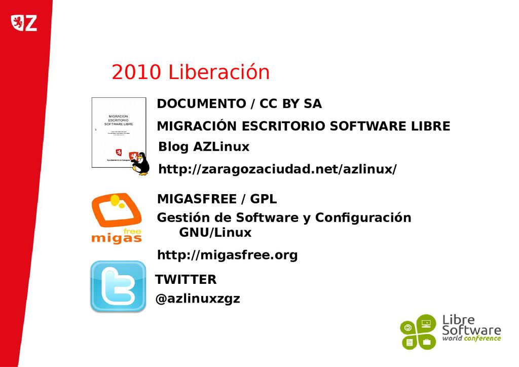 2010 Liberación DOCUMENTO / CC BY SA MIGRACIÓN ...