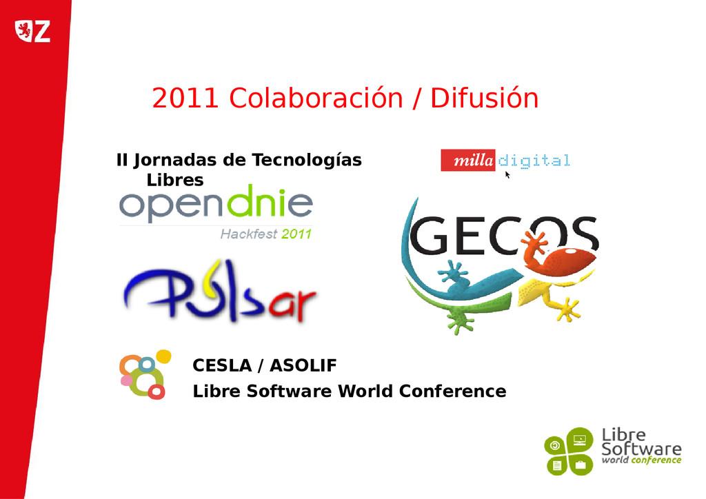 2011 Colaboración / Difusión CESLA / ASOLIF Lib...