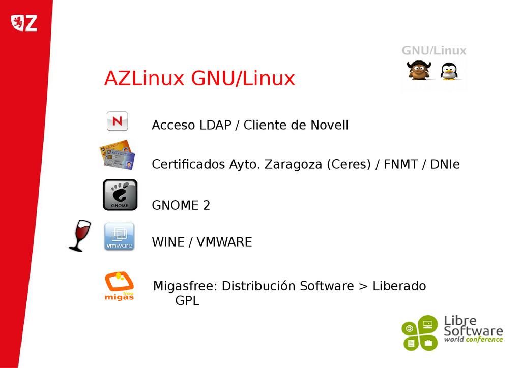 AZLinux GNU/Linux Migasfree: Distribución Softw...