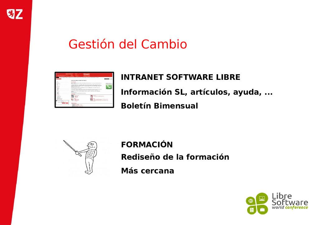 Gestión del Cambio INTRANET SOFTWARE LIBRE Info...