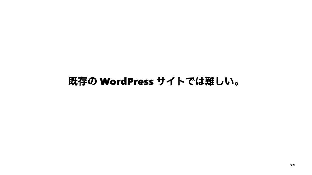 طଘͷ WordPress αΠτͰ͍͠ɻ 21