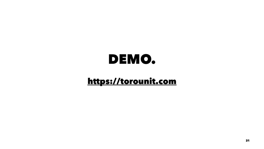 DEMO. https://torounit.com 31