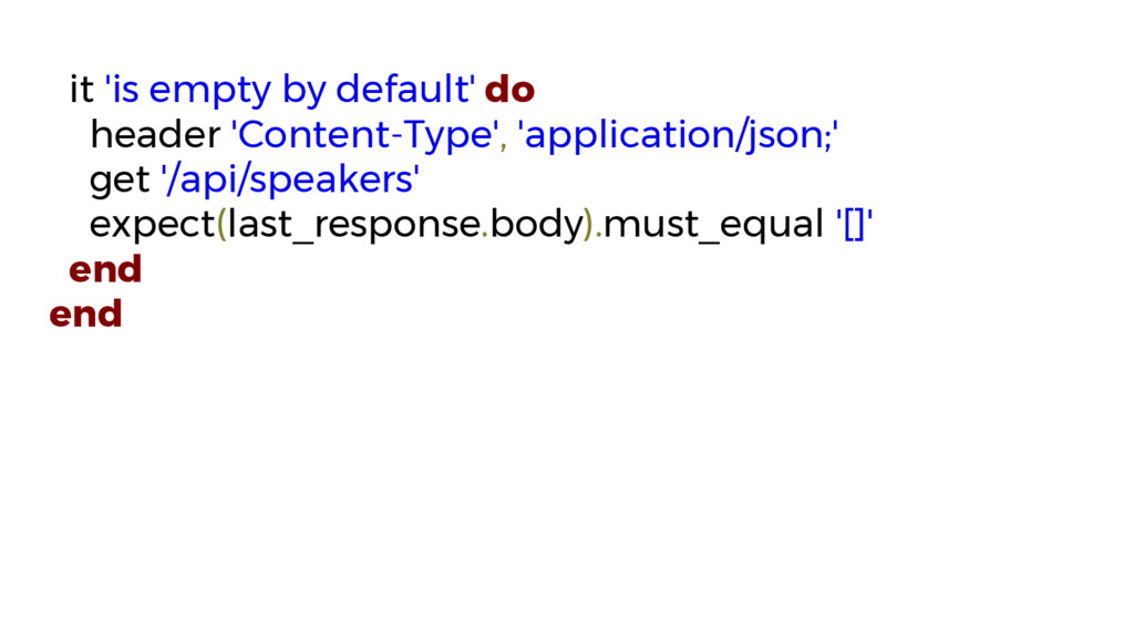 it 'is empty by default' do header 'Content-Typ...