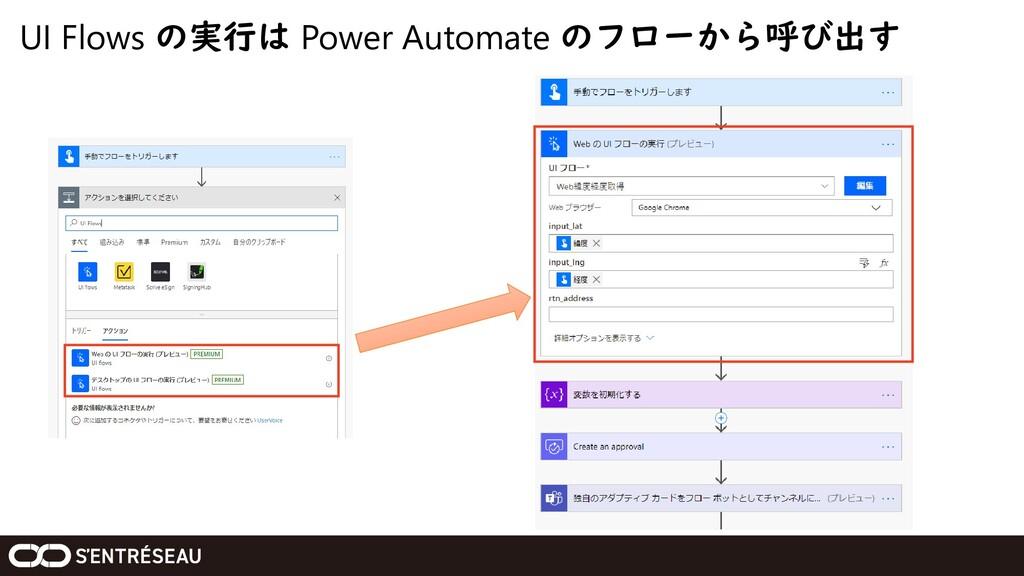 UI Flows の実行は Power Automate のフローから呼び出す