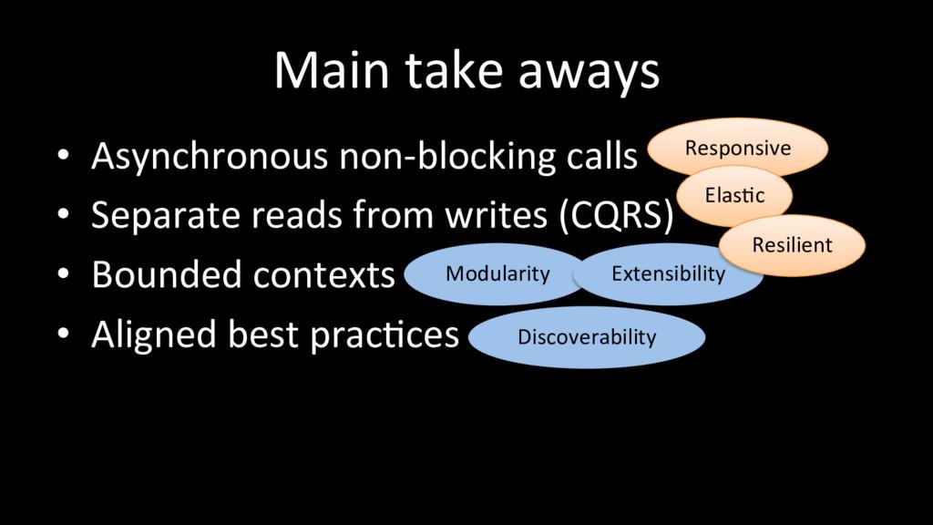 Modularity Extensibility Main take aways • Asy...