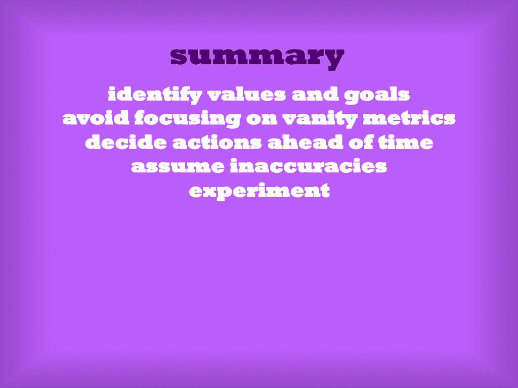 summary identify values and goals avoid focusin...