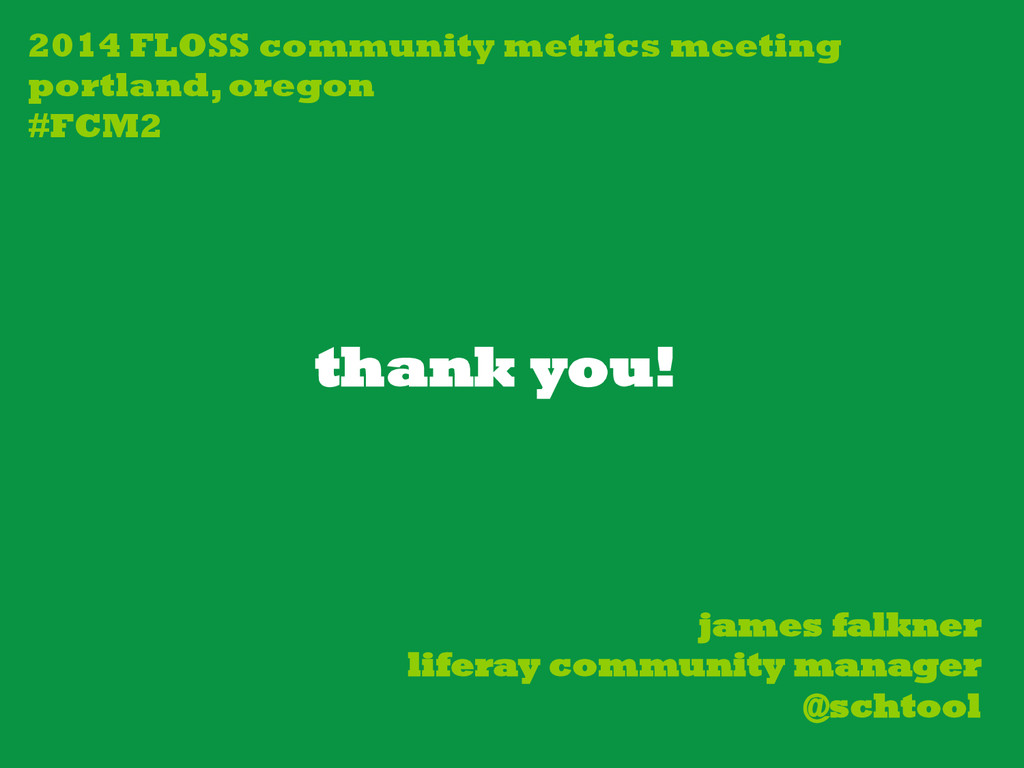 thank you! james falkner liferay community mana...