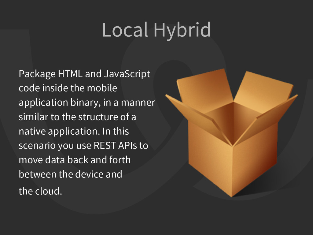 Local Hybrid Package HTML and JavaScript code i...