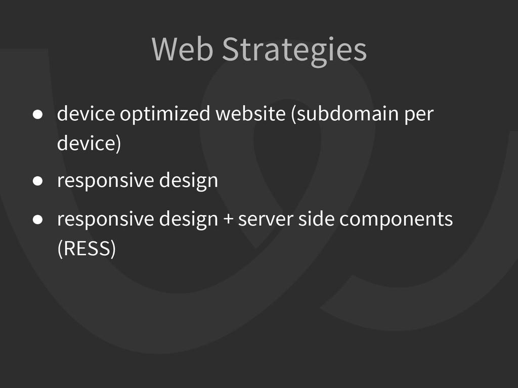 ● device optimized website (subdomain per devic...