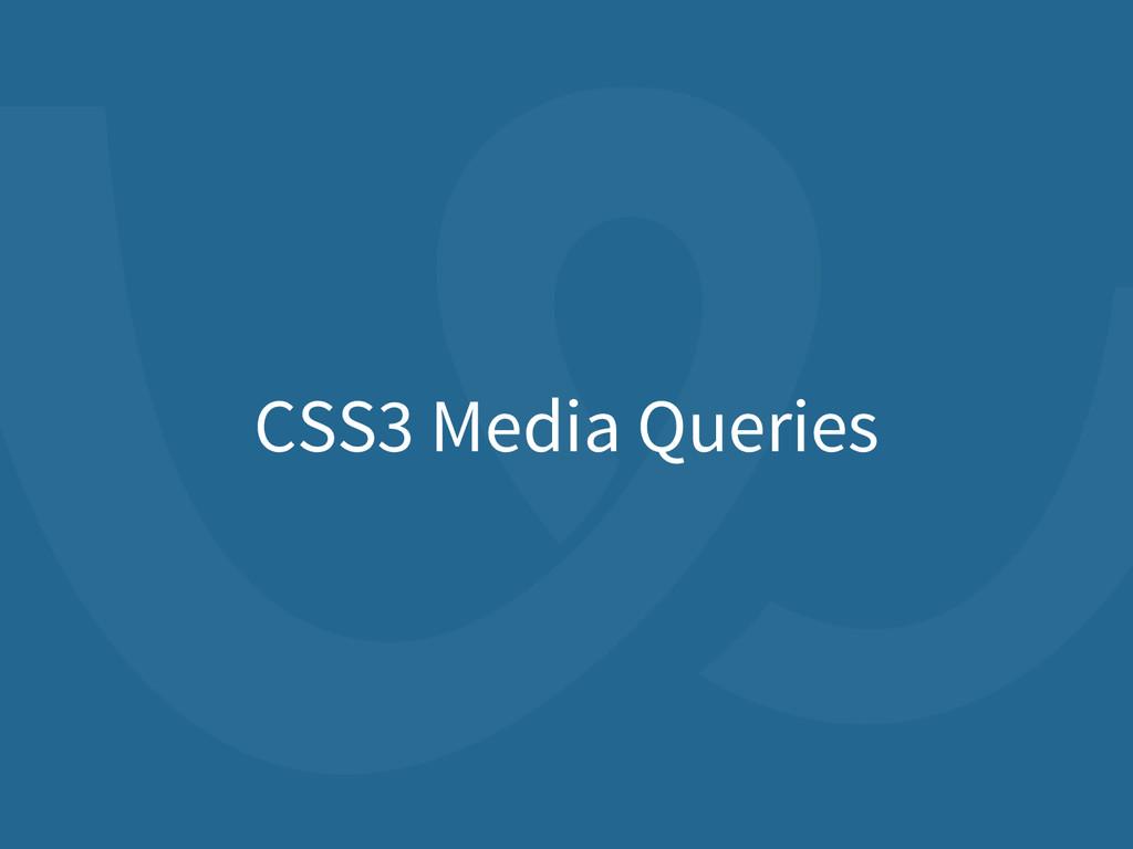 CSS3 Media Queries
