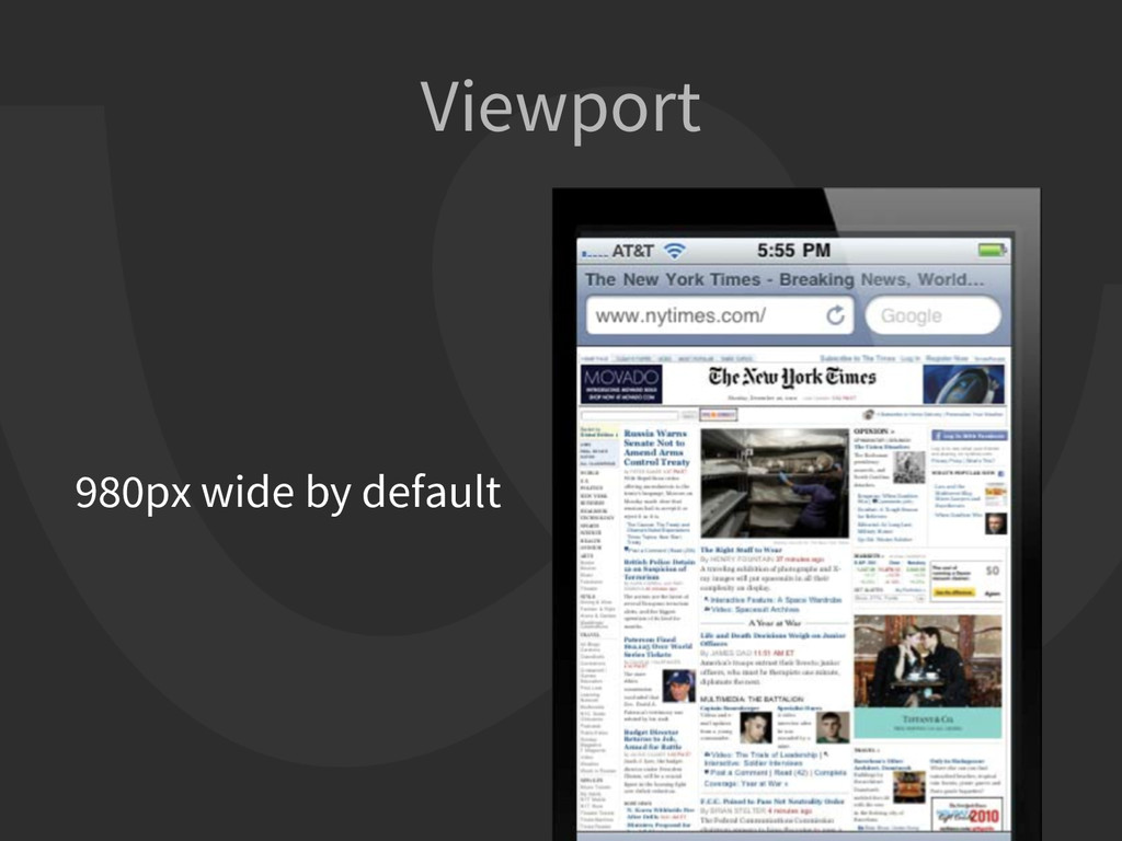 Viewport 980px wide by default