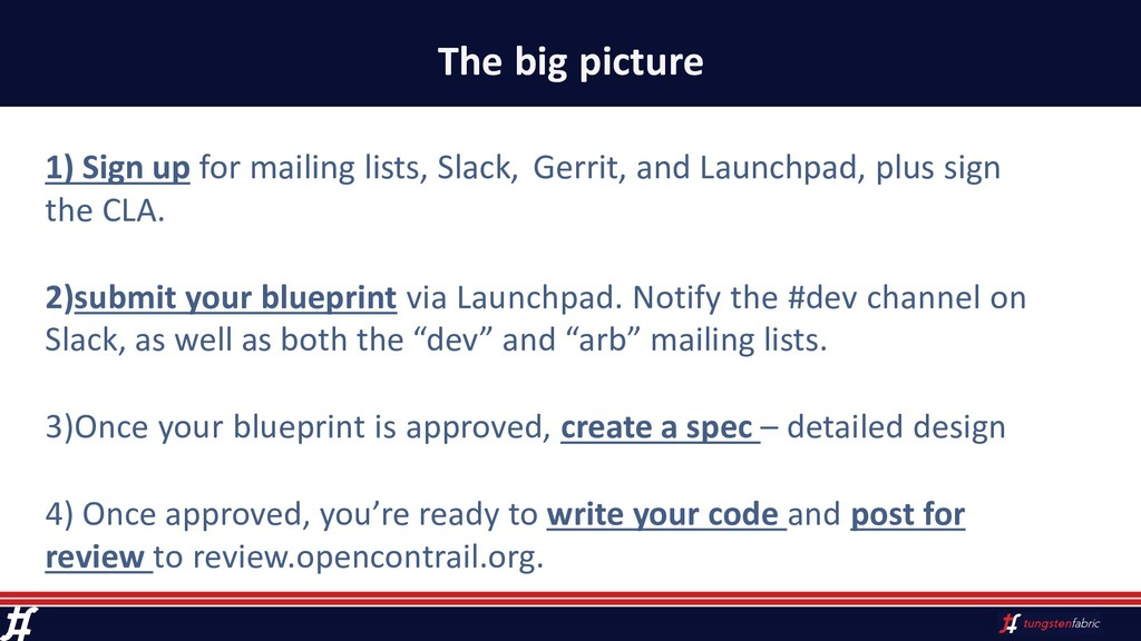 The big picture 1) Sign up for mailing lists, S...