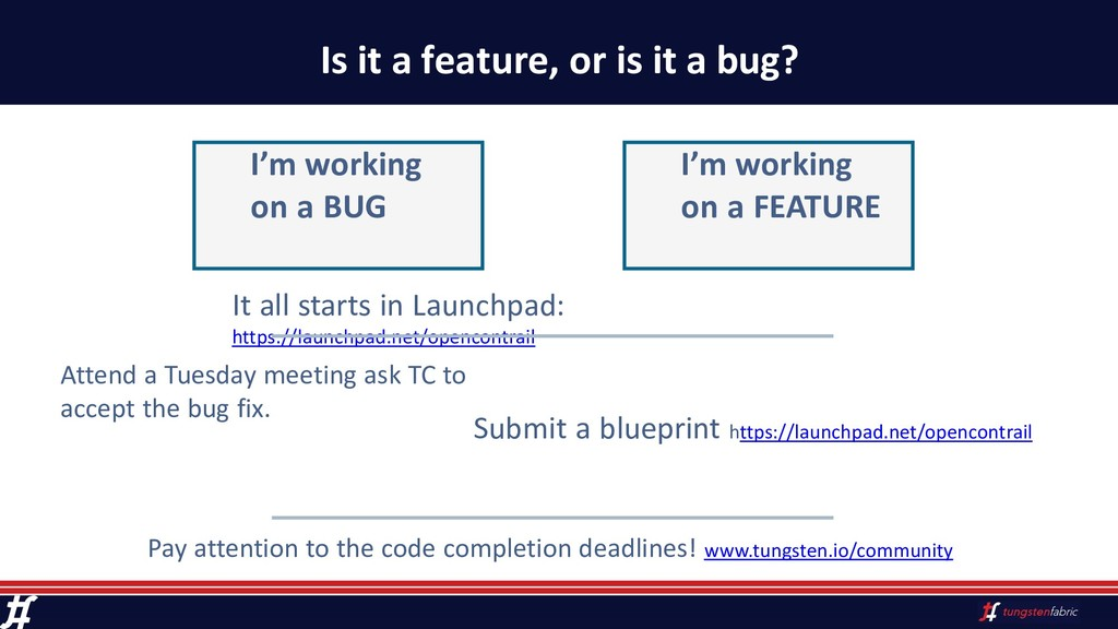 Is it a feature, or is it a bug? Attend a Tuesd...